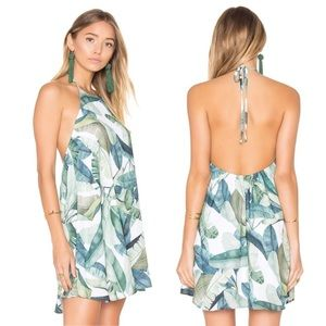 Show me your MuMu Katy print Halter Dress  NWT